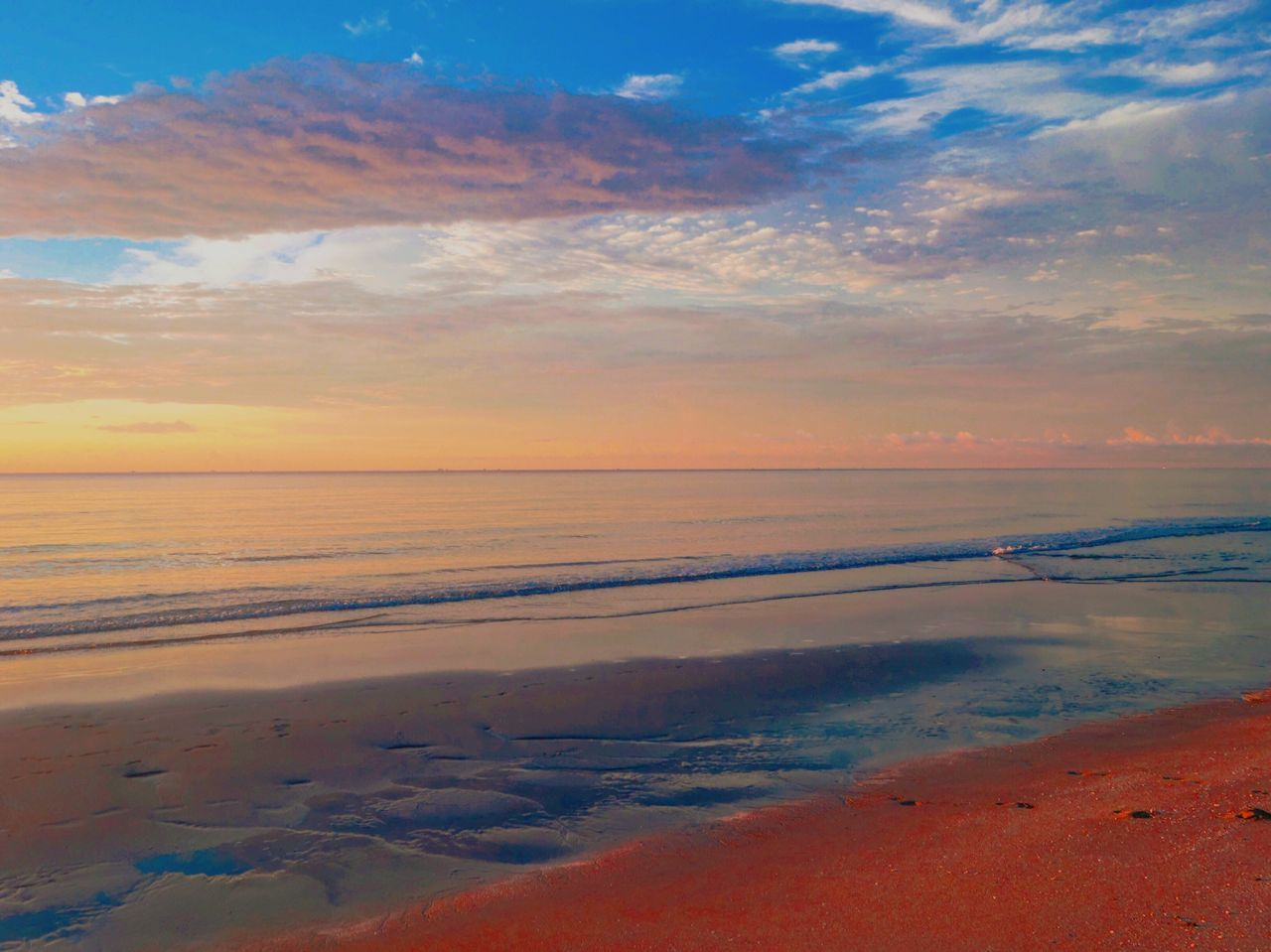 sunset, sky, sea, scenics, cloud - sky, beauty in nature, nature, tranquility, beach, tranquil scene, water, idyllic, horizon over water, outdoors, no people, sand, wave, day