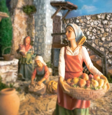 """Pressa"" 🌤🍀🌷🏚🍁☕️ Woman Portrait Villager Italian Figurina Figurine  IPhoneography"