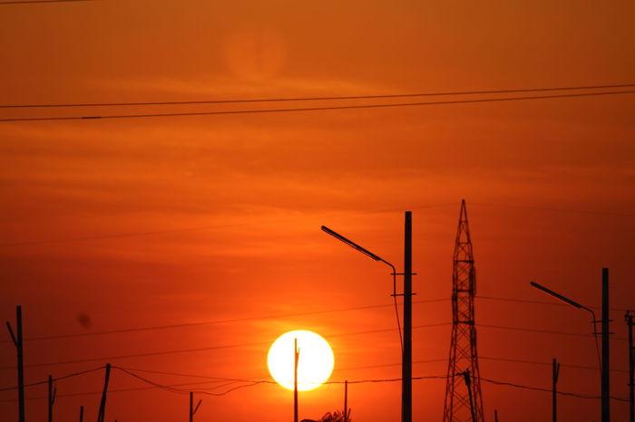 Nofilter Evening Sky Hubli Sunset Orenge Sky