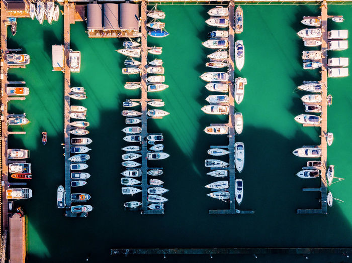 Brighton Boats Water Waterfront Ship Boat Fromabove Brighton Brightonbeach EyeEm Best Shots Drone  Pattern Grid Technology Full Frame Business Finance And Industry Communication Green Color Complexity Big Data