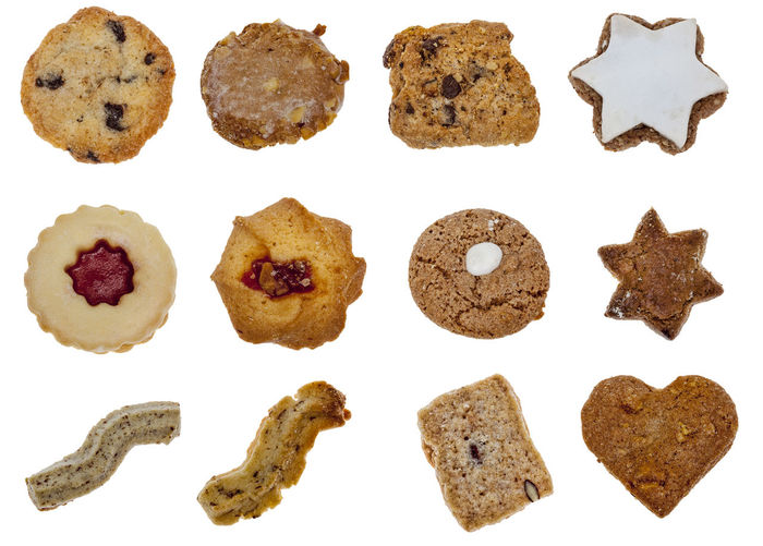 Various Alsatian biscuits isolated against a white background. Alsatian Bicuits Alsatian Food The Week On EyeEm Baked Biscuits Brown Christmastime Close-up Cookie Cut Out Cut Out On White Eyeem Slects Food Food And Drink Foodporn Freshness Heart Shape Heart Shaped  Ready-to-eat Seasonal Star Shape Sweet Food White Background White Backround
