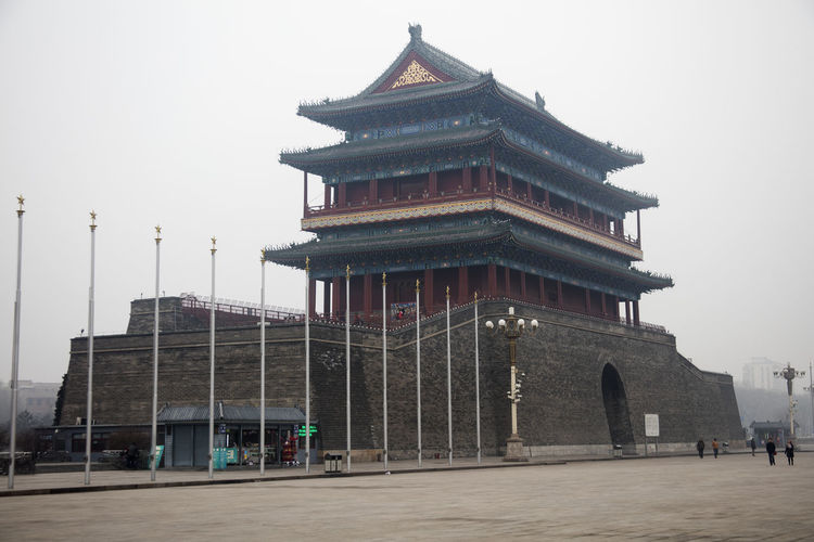 Beijing China Architectural Column Architectural Feature Architecture Beijing Beijing China Built Structure Capital Cities  City Culture Day Exterior Façade Famous Place History Low Angle View No People Outdoors Sky Tall - High Temple - Building Tiananmen Square Tourism Travel Destinations Zhengyang Gate