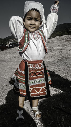 Bulgarian Folklore Childhood Front View Girls Lifestyles Real People Standing Traditional Clothing
