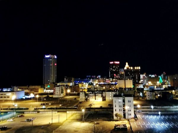 As long as I'm with you, anywhere is the Top of the World Atlantic City Scenic Lookout Night Lights Parking Deck View Beautiful Lights Date Night - Romance Dark Night Night Illuminated Architecture Building Exterior Outdoors No People Sky Urban Skyline Cityscape City