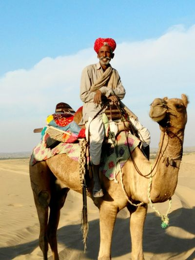 Rajasthanipeople Rajasthani Mustach Pride Of Riding Jaisalmar,India Incredible India Incredible Moment