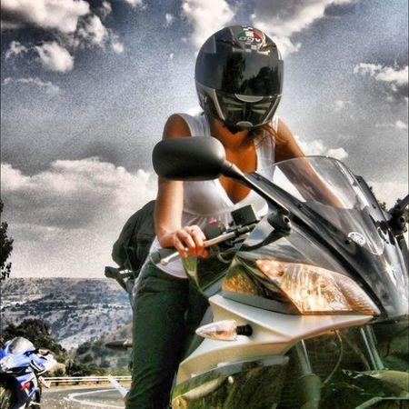 Motorcycles Motogirls Trip Aprilia girl awesome like follow insatagils insatagirlsmoto highway hot nicesky suzuki gsxr600 insatamoto