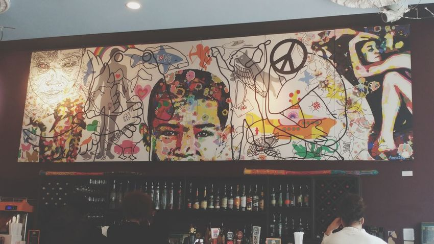 Art on Purpose Multi Colored Art On Purpose ArtWork Artistic Expression Painting Washington, D. C. Busboys & Poets Colorful Art Is Life ArtPop Creative Restaurant Scene Hanging Out Check This Out Night Out On The Town