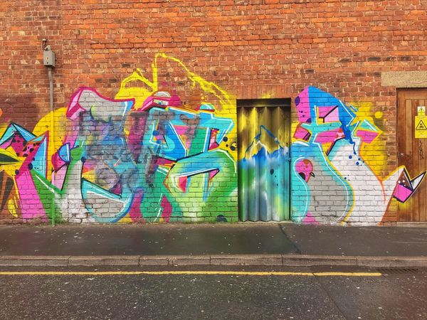 Graffiti Street Art Multi Colored Creativity Art And Craft Wall - Building Feature Architecture Built Structure Building Exterior Brick Wall Outdoors Day No People Liverpool IPhoneography JoMo Photo