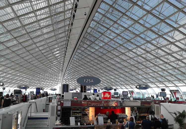 A shot from Charles de Gaulle Airport Airport Built Structure Charles De Gaulle Indoors  Modern Roof