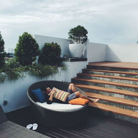 An evening at Jakarta. Outdoors Swimming Pool Sky Nature Summer Relaxation Day Travel Destinations Sunny Vacations Tropical Climate Beauty In Nature Relax Landscape High Angle View Statue Building Exterior Built Structure