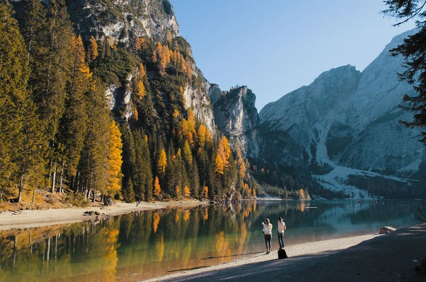 People and lake, Lago di Braies, Val di Braies, Val Pusteria, Trentino Alto-Adige, Italia. EyeEmNewHere Mountainlover Lostinthemoment Nikonphotographer Nikonphotography Nikon D5100  Landscape Italy Italianphotography Lostinthelandscape Italianlandscape Mountain Braies Lagodibraies Valdibraies Valpusteria Italia Beauty In Nature Tranquility Ig_italy Day Sunsetlover Trentinodavivere Trentinoaltoadige Lake Perspectives On Nature Be. Ready. Rethink Things Shades Of Winter An Eye For Travel