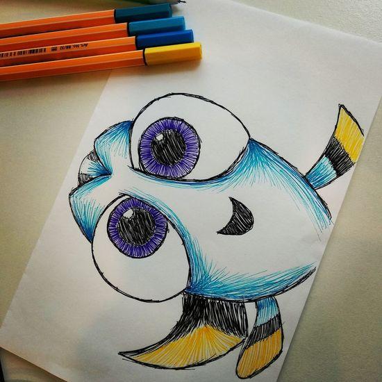 Dory Fish Draw Colors Multi Colored