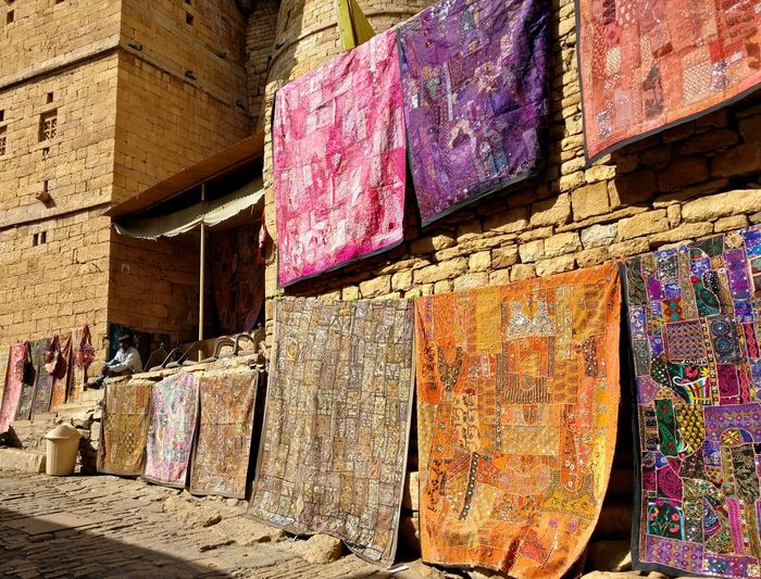 Multi Colored Retail  Built Structure Outdoors Mobilephotography Rajasthan Streetlife Streetphotography Travelogue Jaisalmer Fort Life India Business Stories An Eye For Travel Colour Your Horizn