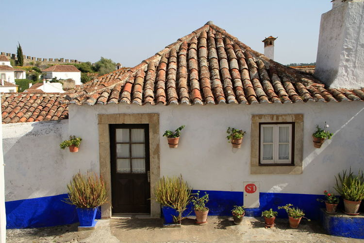 Obidos Portugal Portugal Architecture House Residential Building Town Óbidos
