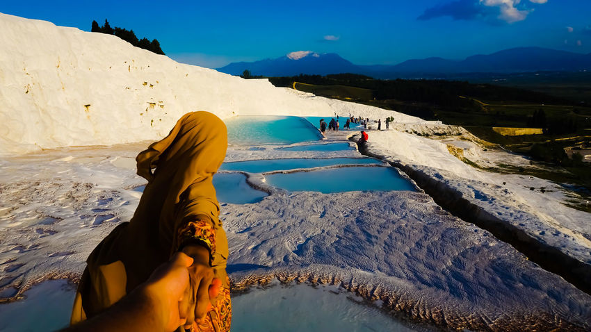 Pamukkale/Turkey Water Mountain People Outdoors Landscape Day Adult Nature Sky Only Women One Person Pamukkale Cotton Castles Turkeystagram