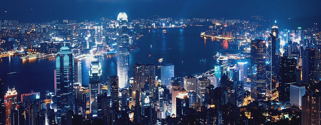 Feel The Journey Landscapes HongKong Landmarkhk Landmark Cityscapes City Lights Night Life Hello World On The Peak