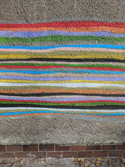 Multi Colored Wool Backgrounds Full Frame Textured  Textile Pattern Blanket Close-up