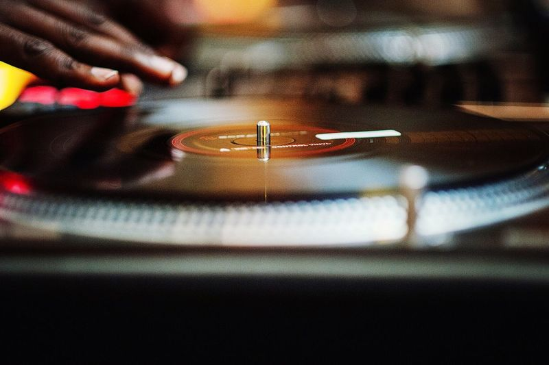 Close up dj spinning records hands Party Records Spinning Steel Wool Dj LIVCOLLINS