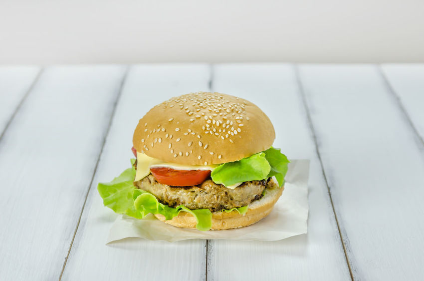 Bun Burger Close-up Day Fast Food Food Food And Drink Freshness Hamburger Indoors  Indulgence Meat No People Ready-to-eat Sesame Snack Unhealthy Eating