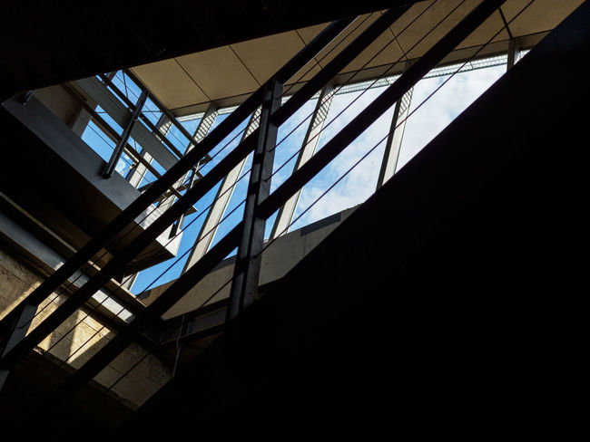 The Shard Architecture Building Built Structure Ceiling Copy Space Dark Day Glass Glass - Material Indoors  Low Angle View Nature No People Rammelsberg Silhouette Sky Staircase Steps And Staircases Sunlight Transparent Window