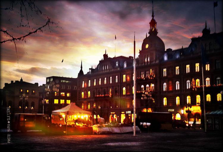 Sundsvall Sunsvall By Night Sweden December 2016