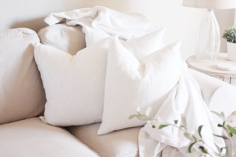 Indoors  White Color Sofa No People Home Interior Pillow Close-up Day Freshness Home Lifestyles Interior Cozy Home Showcase Interior Natural Light Interior Photography Cozy At Home Neutral Colors