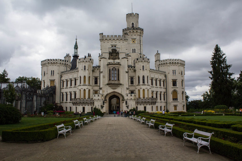 Architecture Building Exterior Castle Day History Hluboká Nad Vltavou Majestic Medieval Sky Travel Destinations