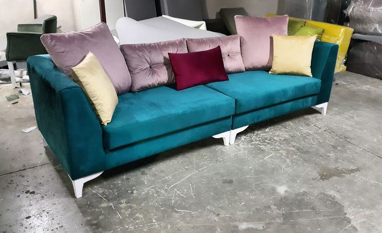 Sofa Living Room Multi Colored Indoors  Handmade By Me Designer Goods Turkish Designer Quality Time Made With Love In Adana