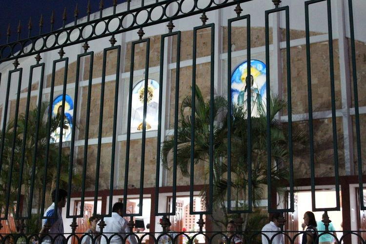 parque de la Aleman Architecture Building Exterior Built Structure Church City Life Illuminated Men Office Building Person Place Of Worship Religion Window