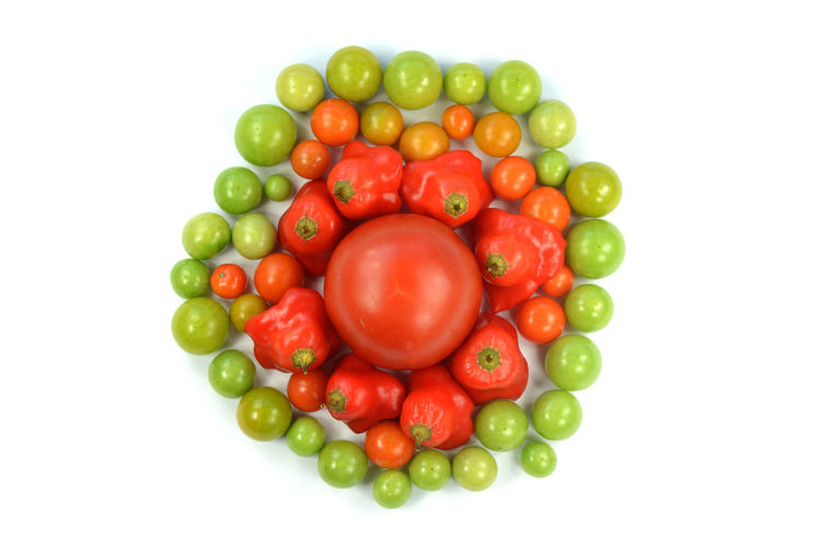 Abundance Arrangement Article Chilli Colorful Colour Pallete Food Food And Drink For Sale Freshness Good Green Color Group Of Objects Healthy Healthy Eating Healthy Food Large Group Of Objects Multi Colored Red Studio Shot Tomato Tomatoes Your Design Story Vegetables White Background