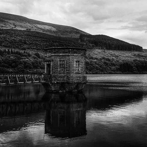 a reservoir in Brecon Beacons.. Latepost Wales Breconbeacons Uk2014 Travel Photography Blackandwhite Lake Mountain Nature Mobilesnapshot Reflection The Great Outdoors With Adobe The Great Outdoors - 2016 EyeEm Awards Nature's Diversities Essence Of Summer