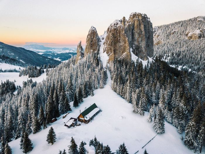 Drone  EyeEm Best Shots EyeEm Nature Lover Nature The Week on EyeEm Trees Aerial View Amazing Beauty In Nature Beauty In Nature Cold Temperature High Angle View Landscape Mountain Mountain Range Nature Outdoors Scenics Sky Snow Sunset Tranquil Scene Tranquility Tree Winter Go Higher This Is Queer The Great Outdoors - 2018 EyeEm Awards