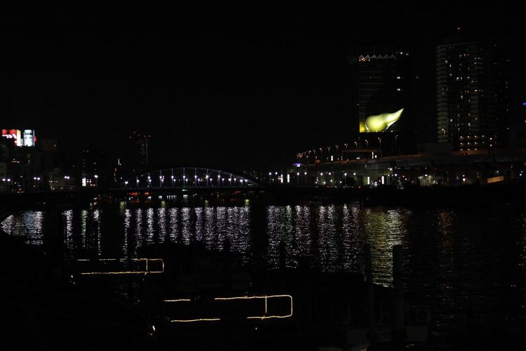 Sumidagawa... River Illuminated Beautiful Place Nightphotography Tokyo,Japan Tokyoskytree Asakusa Asakusa,tokyo,japan Asakusa At Night Camera