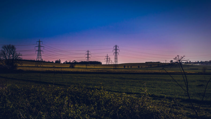 Beauty In Nature Cable Connection Day Electricity  Electricity Pylon Fuel And Power Generation Landscape Landscape_photography Landscapes Nature No People Outdoors Power Line  Power Supply Rural Scene Sky Sun Sunset Technology Tree