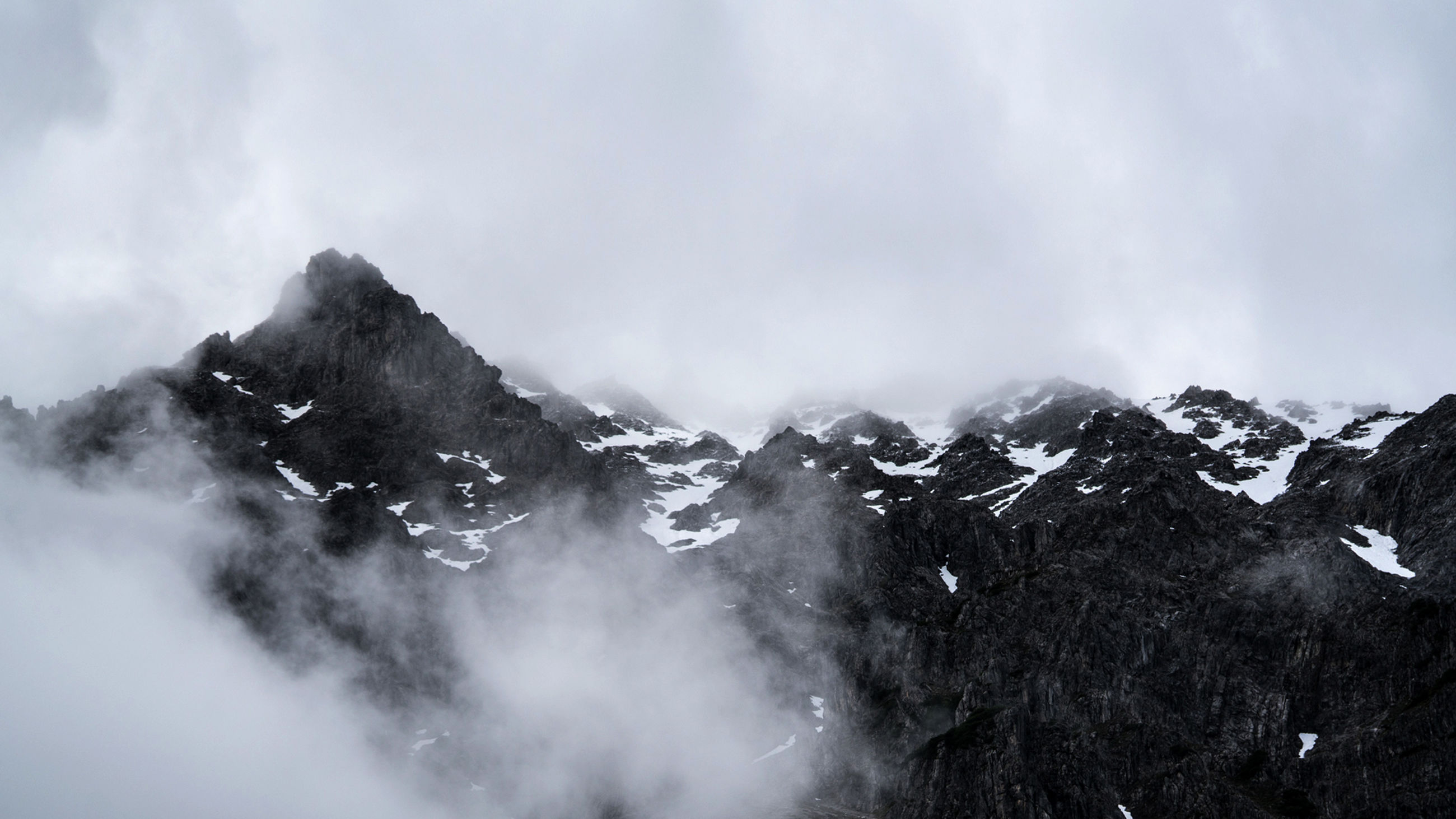 mountain, snow, nature, winter, beauty in nature, cold temperature, sky, scenics, outdoors, tranquility, day, tranquil scene, no people, cloud - sky, mountain range