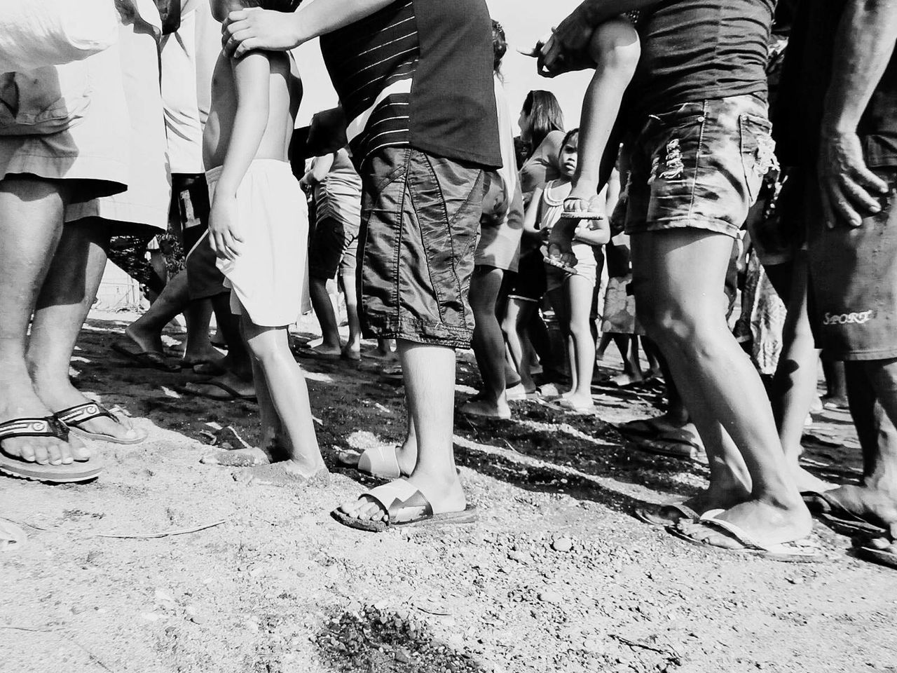 low section, large group of people, real people, day, outdoors, men, togetherness, women, adult, people