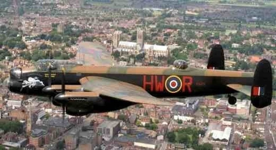 Today I got the opportunity to see one of the last few flying Lancaster bombers flying over my home county Lancaster Bomber Lincolnshire England Battle Of Britain Flight