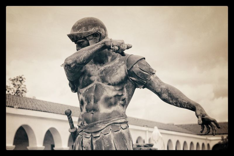 The whipping hand... Sky Statue Sculpture Human Representation Low Angle View Outdoors Day No People Architecture Dabbing Place Of Worship Architecture Roman Roman Soldier