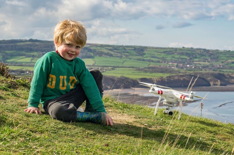 Marky489 Photography Rooftops And Chimneypots Ravenscar Robinhoods Bay Horizon Picturesque Quadcopter Phantom Dji Drone  Boy Child North Yorkshire England Whitby Scarborough