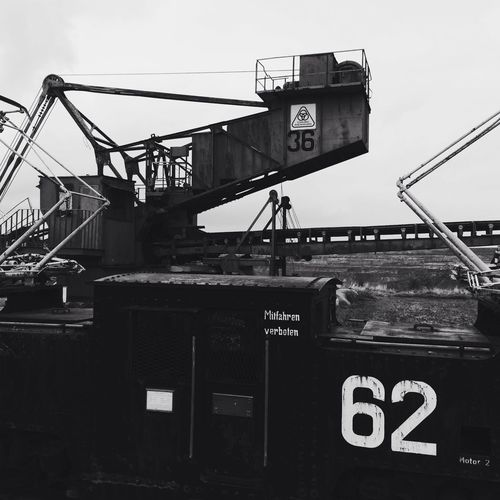 Industrial Black And White Minig