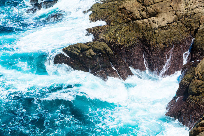 Atlantic Ocean Sea And Rocks Sea Foam Rough Sea La Coruña Seaside Blue Ocean EyeEm Nature Lover Coast Galicia, Spain Landscapes With WhiteWall