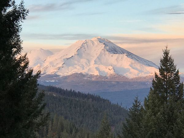 Beauty In Nature Sky Scenics Tranquil Scene Nature Tree Tranquility Cloud - Sky Landscape No People Mountain Outdoors Winter Cold Temperature Day Mt Shasta, California