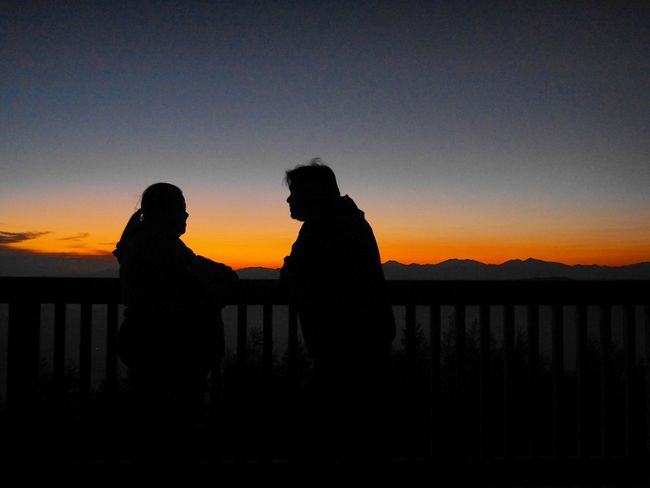 Together Silhouette Sunset Love Fujimountain Togetherness EyeEmNewHere