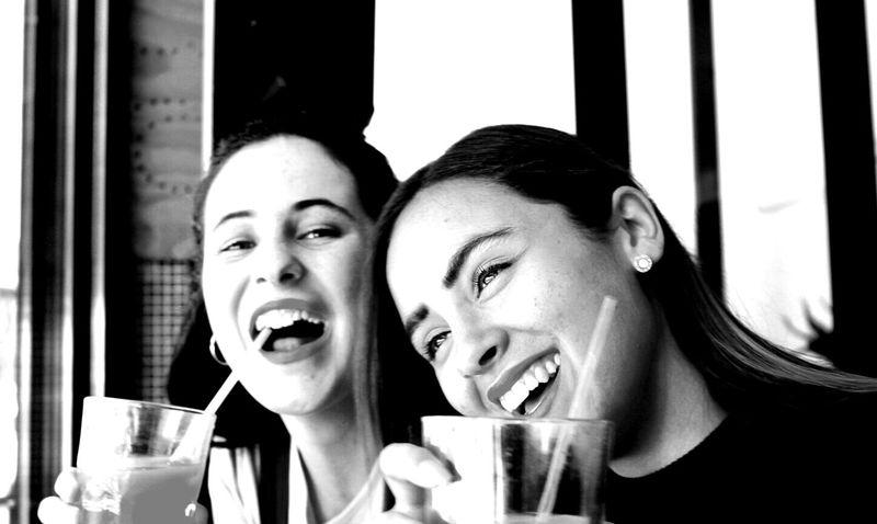 Laughing Blackandwhite Bonding Cheerful Enjoyment Friendship Fun Happiness Pure Joy