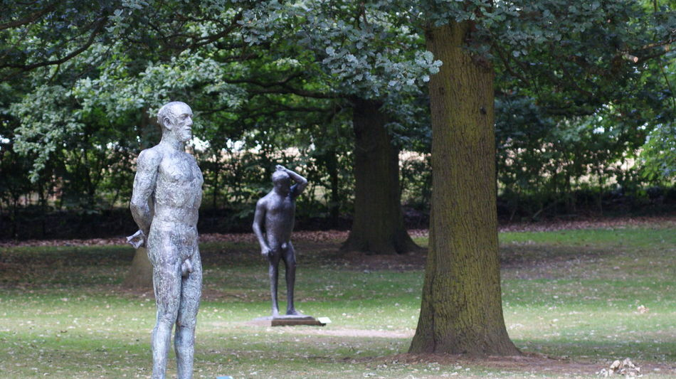 Full Length Grass Nude_model Park - Man Made Space People Plant Sculpture Standing Tree