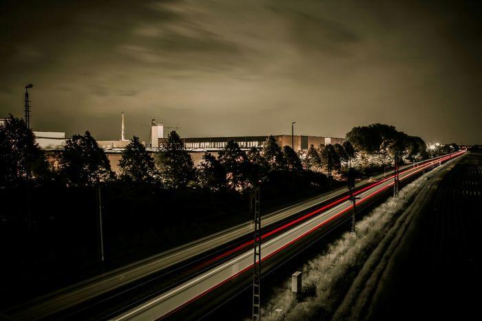 Industrial Industry Train Nightphotography EyeEm Best Shots Night Photography Taking Photos Outdoors Gloomy Trainphotography