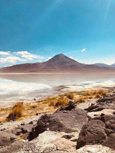 Bolivian Altiplano Travel Sand Desert Sky No People Mountain Water Tranquility