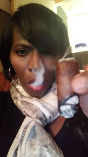 Cigar Smoking Cigars Cigarsmoke Monochrome Cigarsociety Cigarstagram Lifestyles Cigars Enjoy The New Normal Cigarsnob Adults Only Front View People Person Real People Only Women Indoors  Headshot One Person Cigar Women One Woman Only