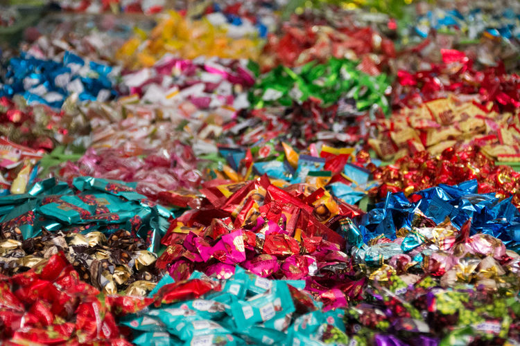 Candyshop Candy Candy Store Colorful Sweetness Sweet Food Backgrounds Background Background Texture Background Photography Multi Colored Full Frame Abundance Selective Focus Large Group Of Objects No People Close-up Variation Choice Pattern Still Life In A Row Unhealthy Sugar Unhealthy Lifestyle