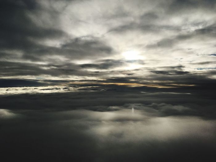 Hope poking through the clouds .... Flying Over Netherlands From Here To Eternity Orange Color Shades Of Grey Hope The View From My Window Nature Majestic No People Ethereal Backgrounds